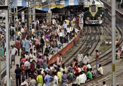 passengers block railway tracks in kolkata