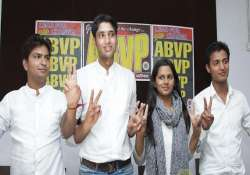 rss student wing abvp wins 3 out of 4 key posts in dusu
