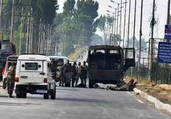 sho killed as militants fire on police vehicle in budgam