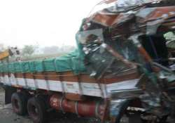 seven dead 14 injured as two trucks collide in up
