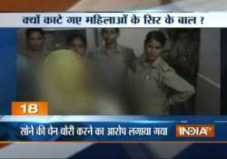 shameless up women thrashed hairs chopped by villagers in