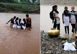 shocking kids swim to reach school in gujarat