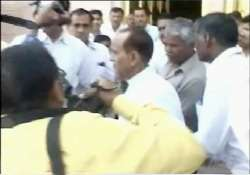 shoe fight inside rajasthan assembly