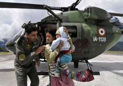 sikkim quake army taking care of 552 residents in chungthang
