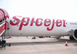spicejet plane s wing hits electric pole at delhi airport