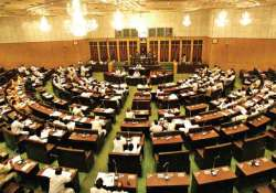 telangana legislators on sit in evicted from andhra assembly