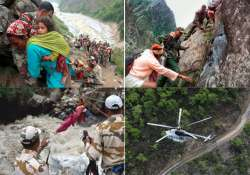 uttarakhand choppers evacuate over 500 people from