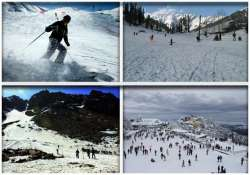 with snow skiers return to himachal s slopes