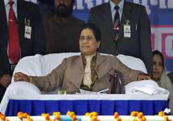 cong trying to divide muslims on quota issue says mayawati
