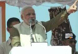 congress has destroyed the nation narendra modi