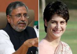 desperate congress roping in priyanka in up says sushil modi