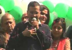 kejriwal thanks wife for always being there