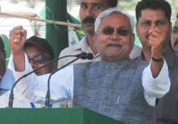 nitish kumar accuses bjp of practicing divisive politics