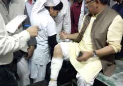 wb bjp leader siddharth nath singh injured in protest
