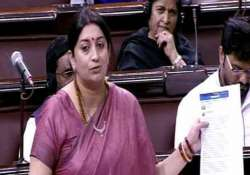smriti irani s durga puja reference leads to ruckus in