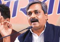 delhi poll satish upadhyay s supporters protest denial of