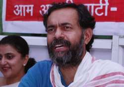 swaraj samwad not an attempt to break aap yogendra yadav