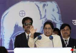 mayawati accuses centre of depriving up of funds