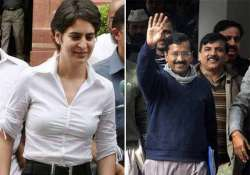 priyanka vadra is second only to arvind kejriwal in