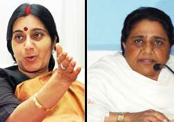 sushma says mayawati is a stone hearted woman