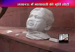 mayawati statue replaced within 12 hours in lucknow