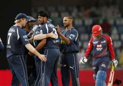 comfortable win for chargers as dd batsmen falter again