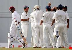 west indies reaches 30 3 in reply to india s 201
