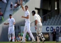 kiwis all out for 443 steven finn claims 6 wickets