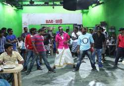 west indian all rounder dwayne bravo shoots for tamil song