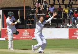 zimbabwe reaches 64 2 vs. south africa