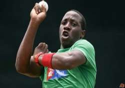 zimbabwean bowler banned for sharing mitchell johnson s