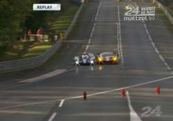 british driver breaks his back in crash at le mans 24 hour
