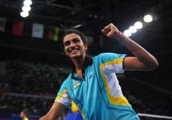 cwg sindhu joins thulasi kashyap srikanth in quarters