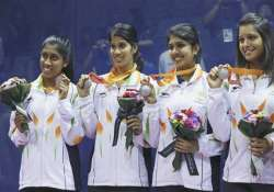 asian games indian women s squash team settles for silver