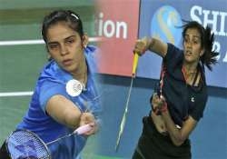 asian games saina kashyap march on sindhu crashes out