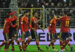 germans draw 4 4 with sweden spain s winning spree ends