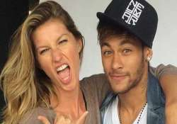 gisele bundchen poses with soccer star neymar on vogue