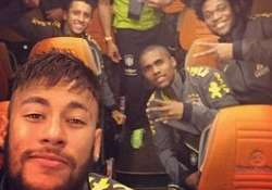 neymar takes selfie with team mates after hammering turkey