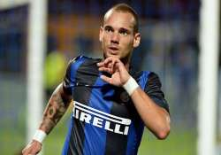 sneijder not to re sign with inter