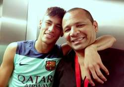 striker neymar defends father