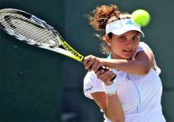 australian open sania mirza knocked out of women s doubles