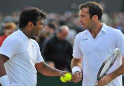 wimbledon paes stepanek in semis sania tecau out