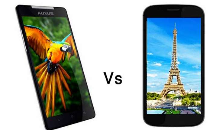 a comparison iberry auxus nuclea n1 vs micromax canvas 4