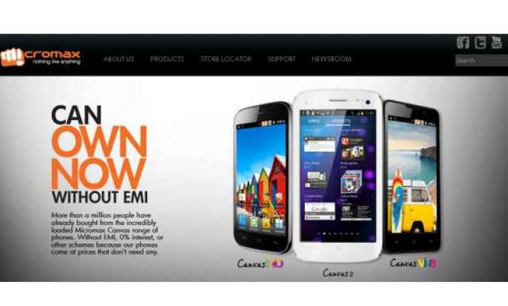 micromax claims it sold over 1 million canvas smartphones