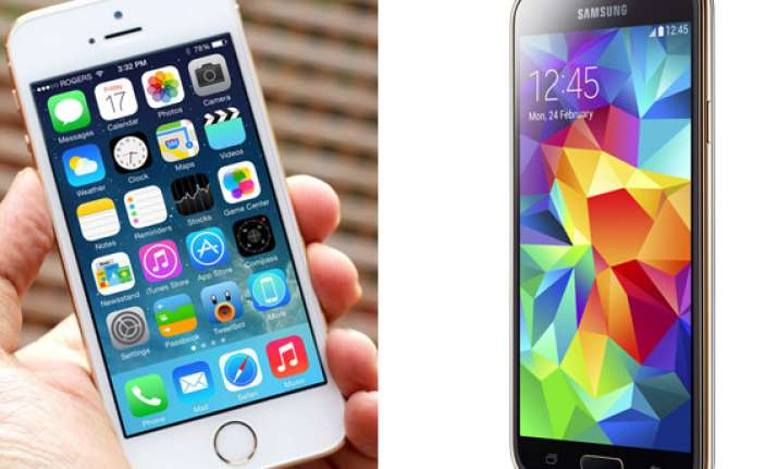 samsung galaxy s5 vs iphone 5s a comparison