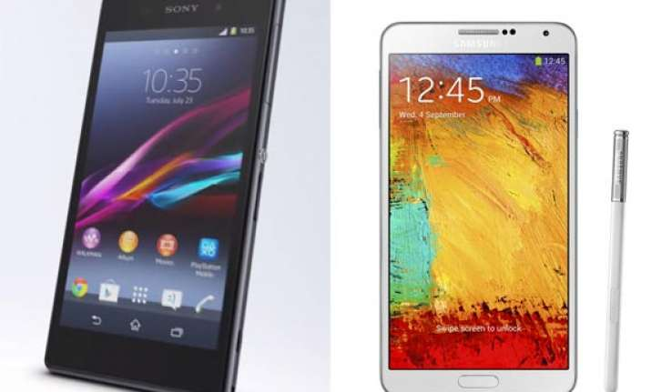 sony xperia z1 vs samsung galaxy note 3 a comparison