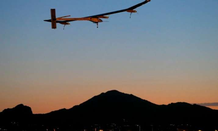 solar powered airplane to end us journey