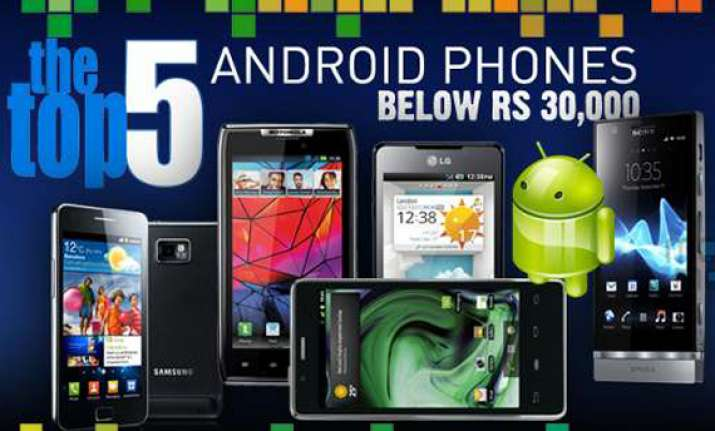 top 5 android phones under rs 30 000