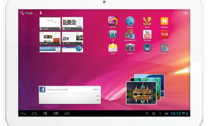videocon launches 10 inch vt10 tablet with android 4.1 for