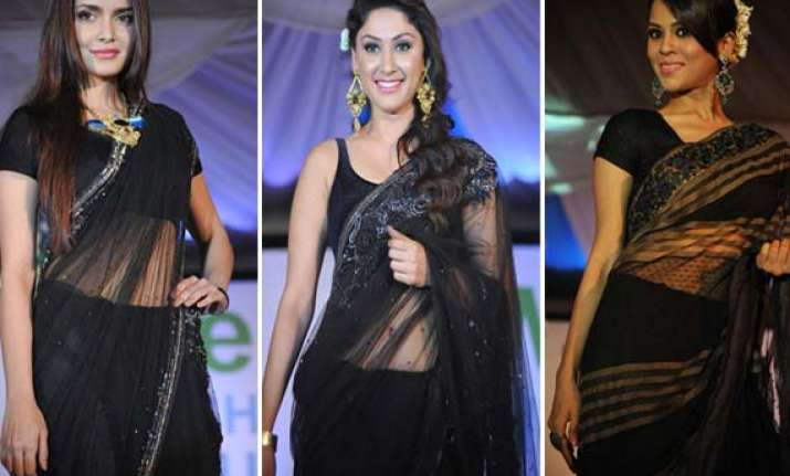 celebs glitter at walk for peace fashion show
